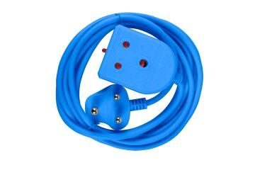 EXTENSION LEAD 3M 10AMP BLUE