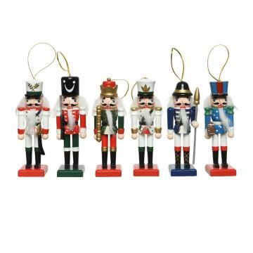 6PC NUTCRACKER DECORATION