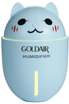 Mini Humidifier GOLDAIR With USB,Fan & Light Blue