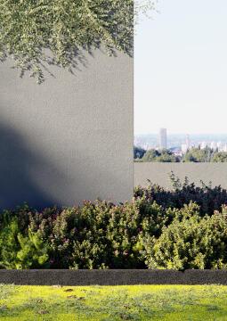 GARDEN EDGING FLAT RUBBER 1 m x 12 cm