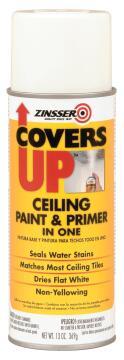 Ceiling Paint & Primer ZINSSER Covers Up Spray Flat White 384ml