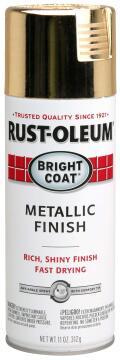 Bright Coat spray paint RUST-OLEUM metalic Gold 312g