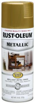 Spray paint RUST-OLEUM Metallic Burnished Brass 312g