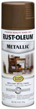 Spray paint RUST-OLEUM Metallic Antique Brass 312g