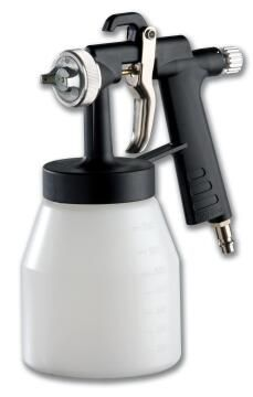 Spray painting gun + cup in plastic