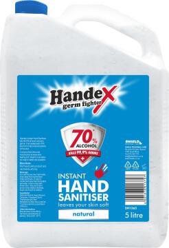 Hand sanitizer HANDEX 70% alcohol 5L