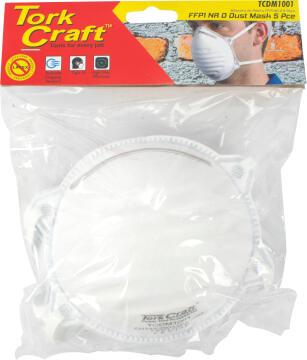 Set of 5 Dust Mask TORKCRAFT FFP2 Latex free dolomite