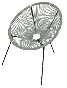 Chair outdoor acapulco 4 legs rattan cactus 2 green