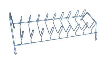 Kitchen Plate rack silver epoxy