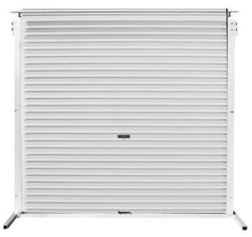 Garage Door Roll Up Aluzinc White-w2450xh2100mm