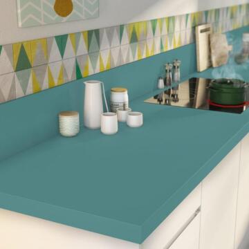 Kitchen worktop Blue Laguna Matt 3000X650X38 water repellent treatment
