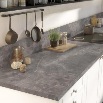 Kitchen worktop laminate Black Marble Matte 3000X650X38 water repellent treatment