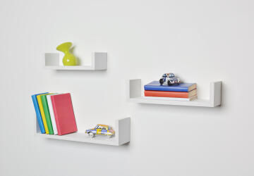 triple u shelf set white