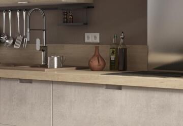 Kitchen worktop oak 315cm x 65cm x 5.8cm