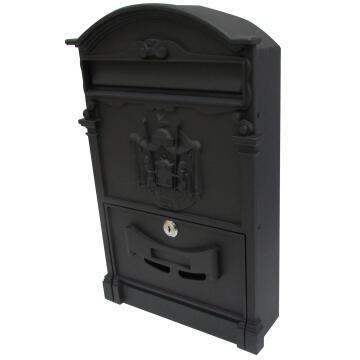 MAILBOX ALU STEEL PWDR COATED BLACK STD