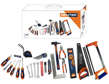 Toolset bi materials DEXTER 45 pieces