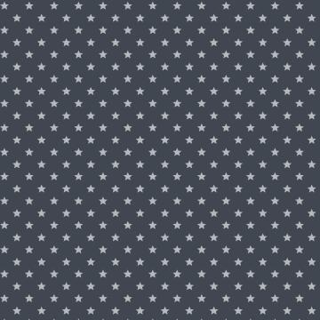 Adhesive Roll Plastic Deco Stars Grey