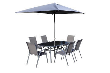 Dining Set Of 8 includes Umbrella