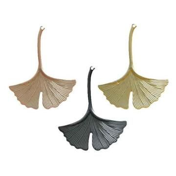 3PC IRON GINKO DECORATION