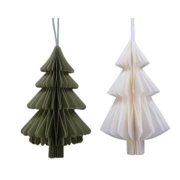 2PC PAPER TREE DECORATION