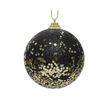 BAUBLE BLACK/GOLD GLITTER