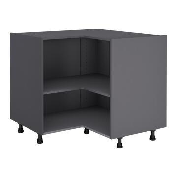 Kitchen cabinet Delinia « L » angle Grey 58cmx112cmx76cm