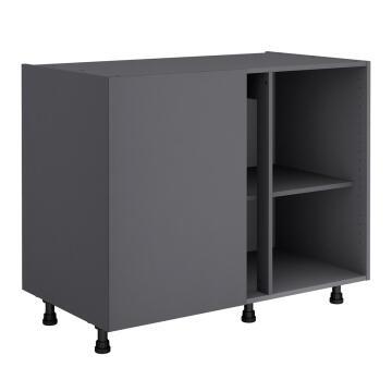 Kitchen cabinet Delinia bottom right angled Grey 58cmx106cmx76.8cm