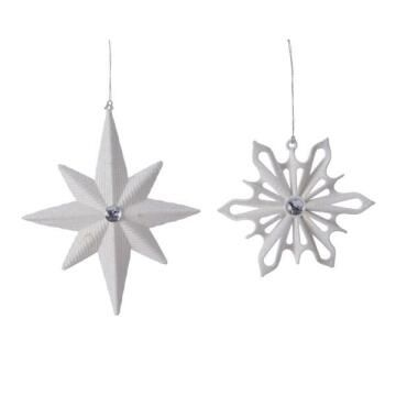 2PC STAR/DIAMOND DECORATION