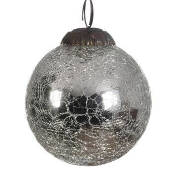BAUBLE CRACKLE GLASS