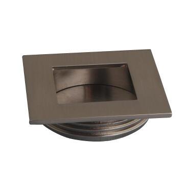 Cabinet flush handle brushed nickel square 40mm inspire