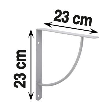 BRACKET 230X230X25MM STEEL 3MM GREY