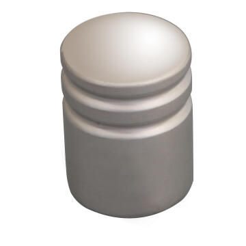 Cabinet knob ridged satin nickel 16mm inspire