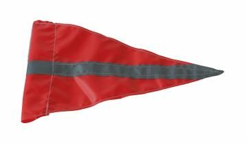 Safety flag high visibility triangle with reflective strip safeco