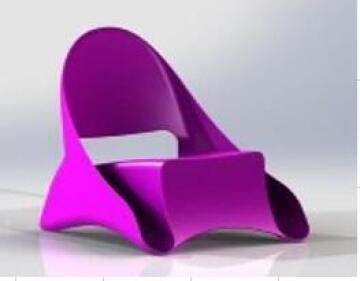 Chair Lounge ONDULE Fucshia