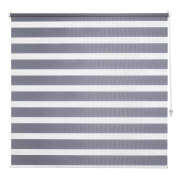 Night & Day Roller Blind INSPIRE Clipsable Dark Grey 40x160cm
