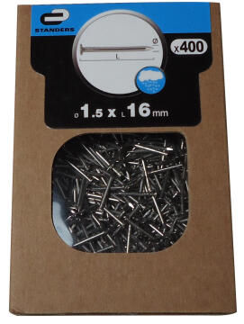 Flat head nail stainless steel 1.5x16mm 400pc box standers