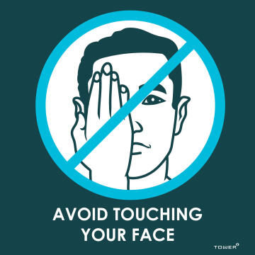 Avoid touching your face covid-sign 150x150mm