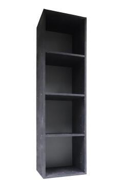 Storage shelf 4 cubes grey