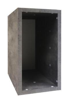 Cube 1/2 box grey