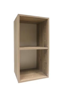 Cube 2 boxes oak