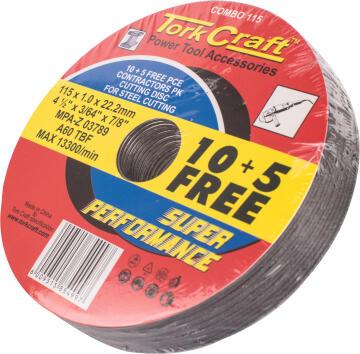 Cutting Discs TORKCRAFT 115mm 10 + 5