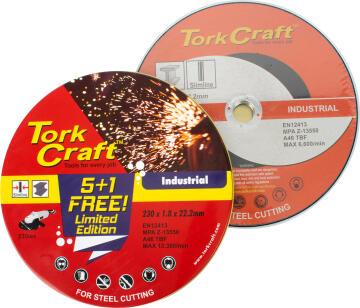Cutting disc TORKCRAFT 230mm 5 + 1 in a tin case