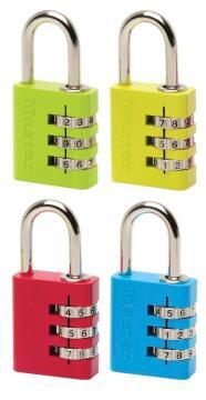 Combination padlock aluminium 30mm master lock