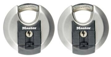 Cylinder padlock stainless steel 70mm 2 keyed alike excell master lock