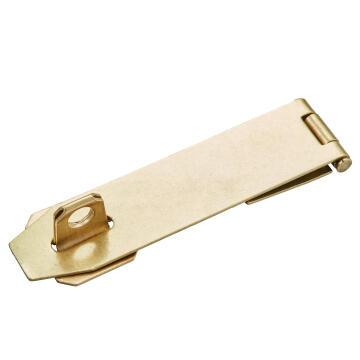Hasp & staple brass horizontal 115mm mackie