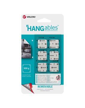 Removable squares white 22mm hangables velcro