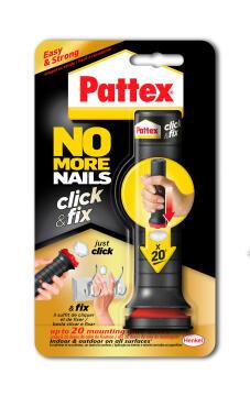 No more nails click and fix pattex