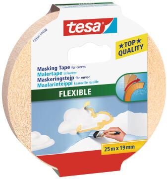 Masking Tape for Curves TESA beige 25m x 19mm