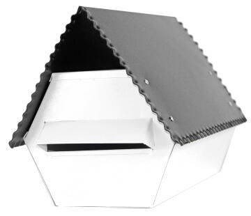 Mail box electro galvanised black l&g