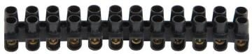 CONNECTOR STRIP 12WAY 3AMP BLACK